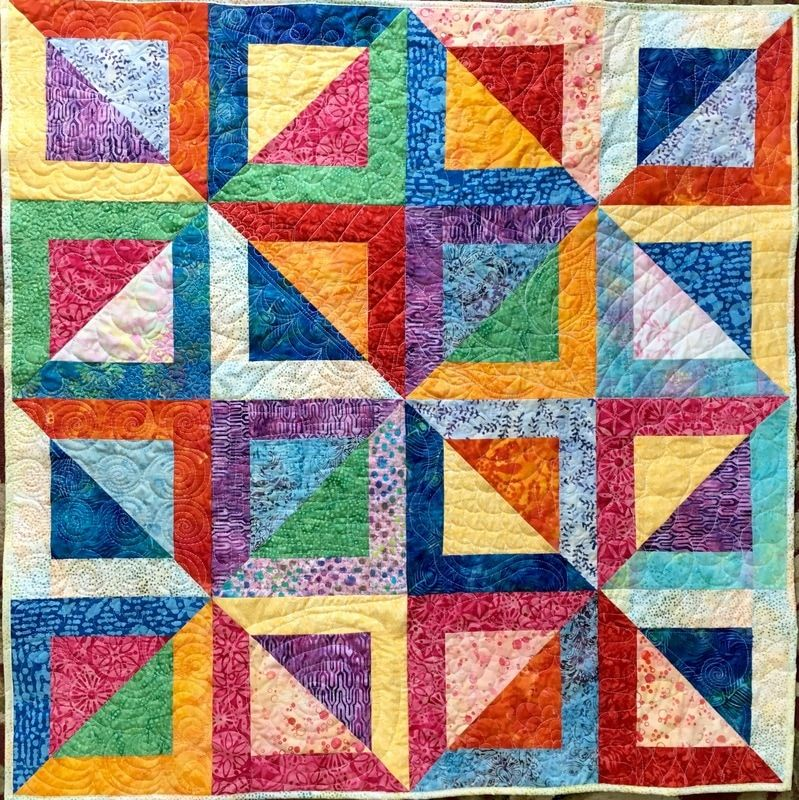 Batik Baby Quilt From Httphomesewnbycarolyn Quilts