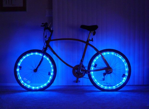 Bicycle With Rope Light Led Rope Lights Bicycle Lights Bicycle