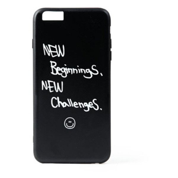 New Beginnings Iphone case (115 BRL) ❤ liked on Polyvore featuring men's fashion, men's accessories, men's tech accessories, phone cases, phone, accessories, cases and black