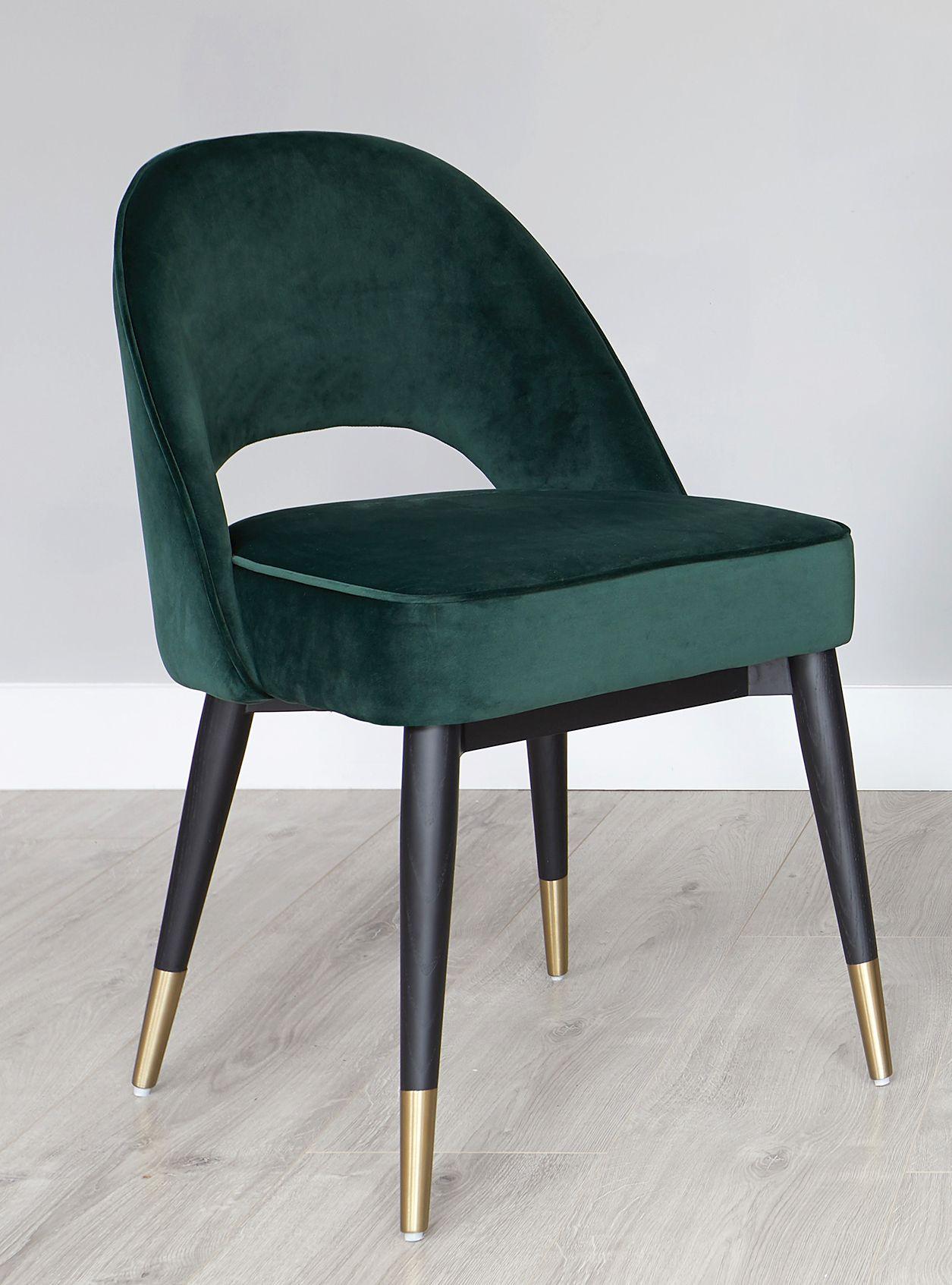 Clover Sapphire Blue Velvet Dining Chair