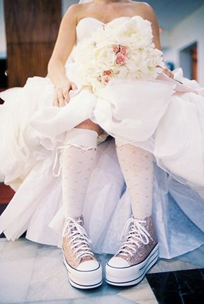 wedding sneakers for the bride photography by wwwthebrotherswrightcombwrightphoto
