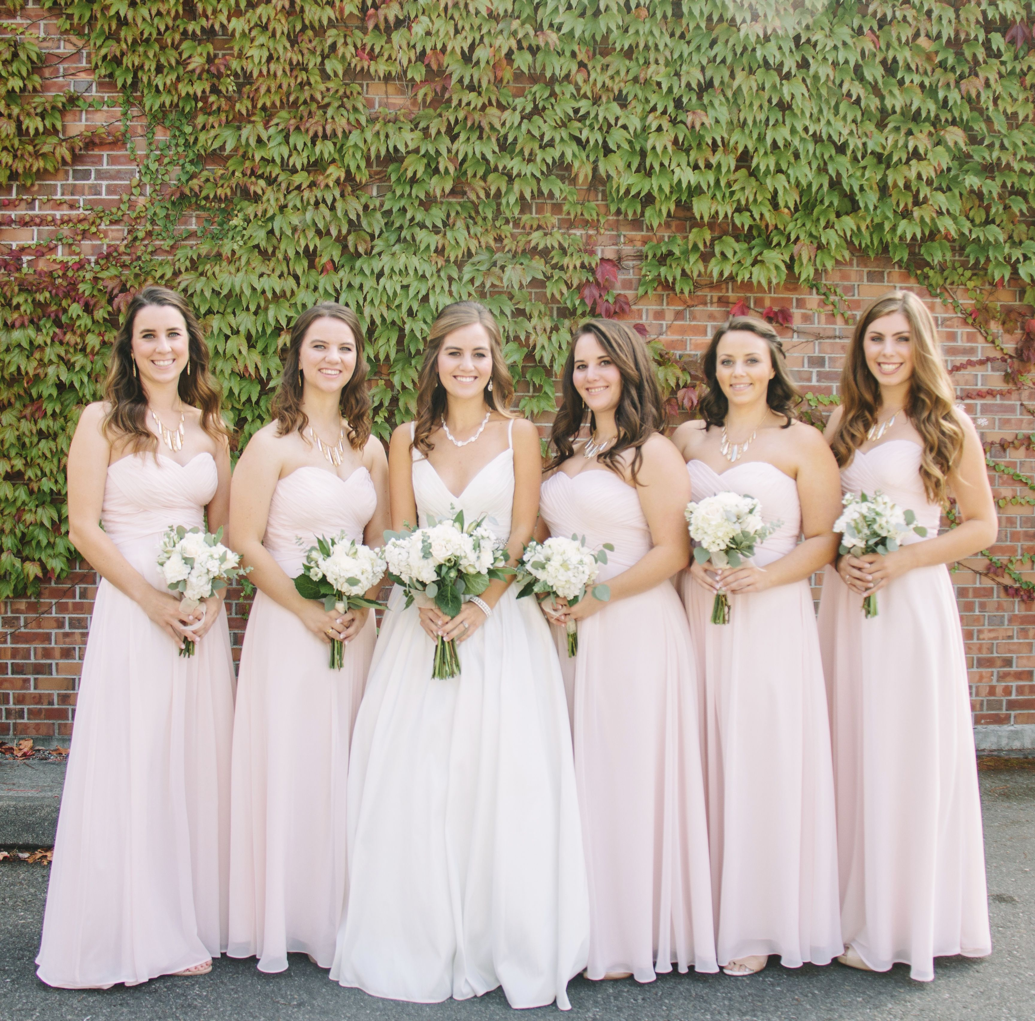 Blush Pink Bridesmaid Dresses @Azazie | W