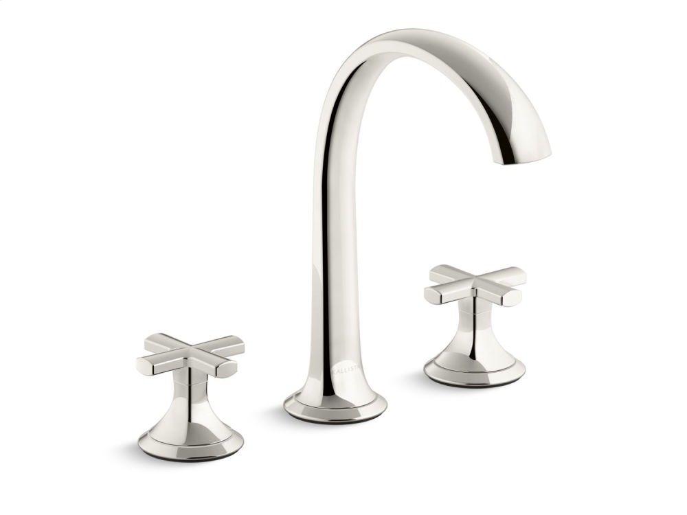 Sink Faucet, Arch Spout, Cross Handles - Nickel Silver | 2700 ...