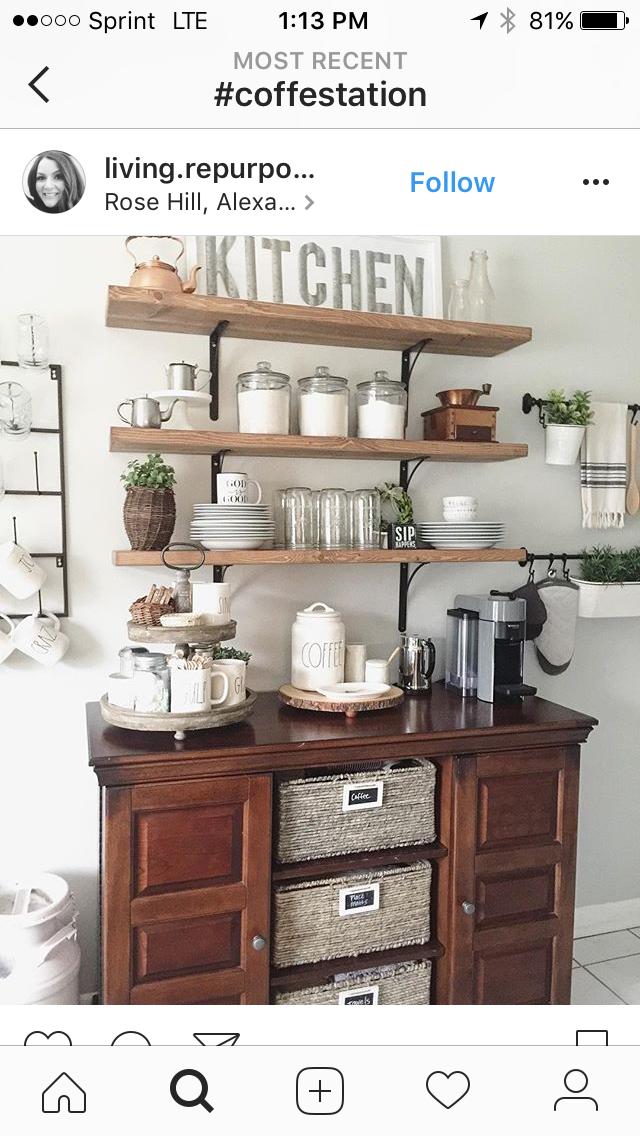 Pin de Mayra en Coffee Station | Pinterest | Cafetera, Cocinas y Deco