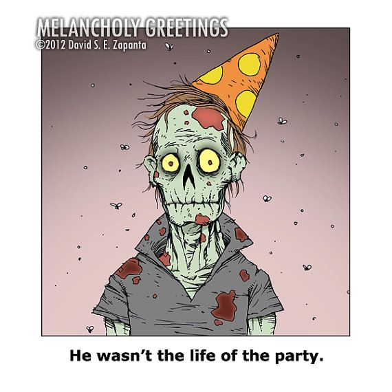Hey I Found This Really Awesome Etsy Listing At Http Www Etsy Com Listing 92831091 Melancholy Greetings Zombie B Zombie Birthday Zombie Cards Birthday Cards