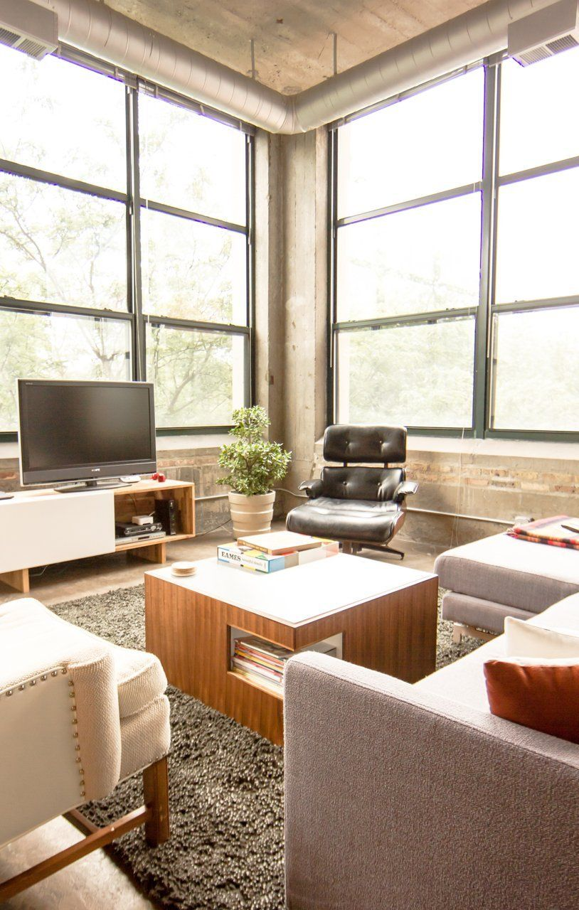 Eric & Kellie's Pencil Factory Loft Minimalist home