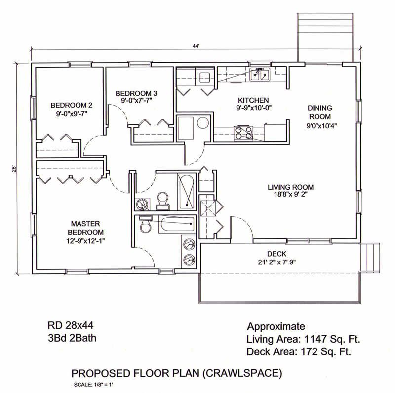 28 x 44 floor plan yahoo image search results - Clayton Homes Floor Plans 3 Bedrooms 28 Quot Width 44length