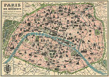 Paris Map Flat Wrap Paris Map Art Vintage Paris Map Paris Map