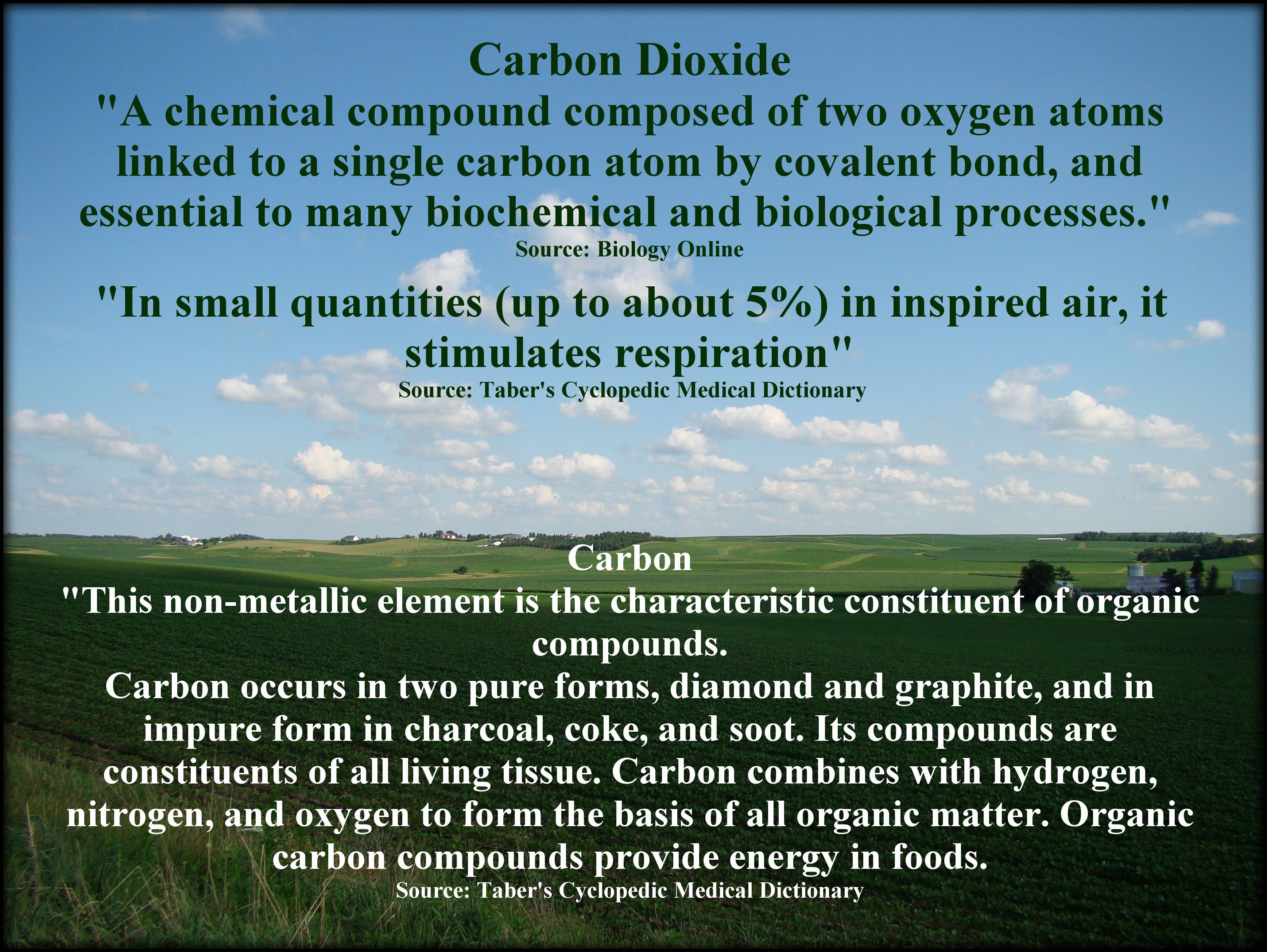 The scientifically correct definition of CO2 and Carbon. There is a difference.