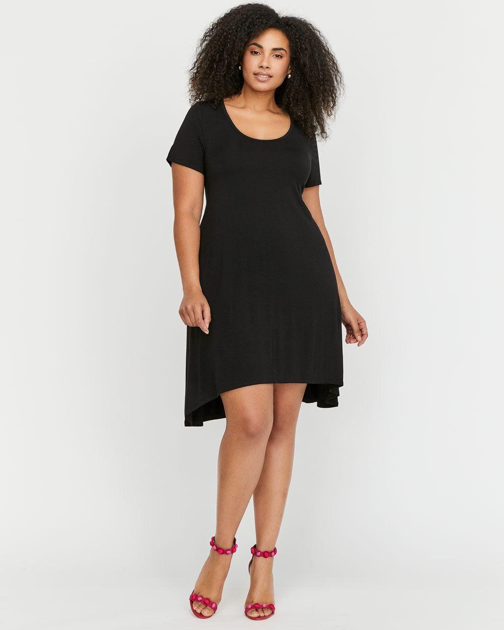 Shop online for lul highlow short tshirt dress find little black