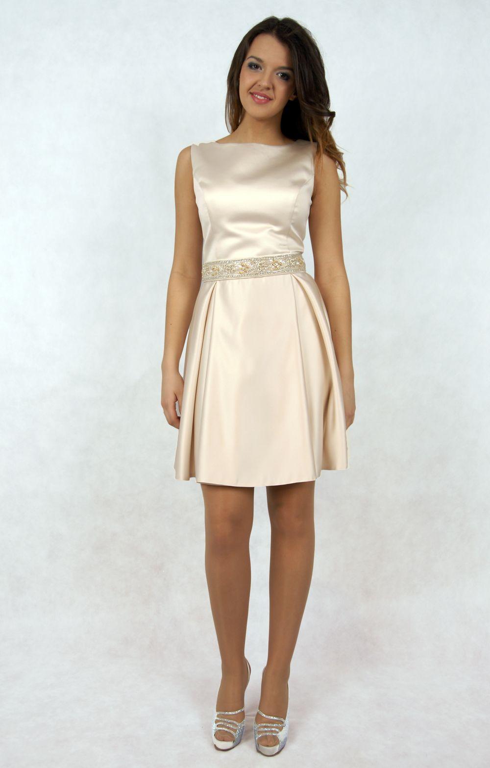 Sukienka Szyta Na Miare Kolor Szampan Slub Cywilny 5382615969 Oficjalne Archiwum Allegro Dresses Fashion Graduation Dress