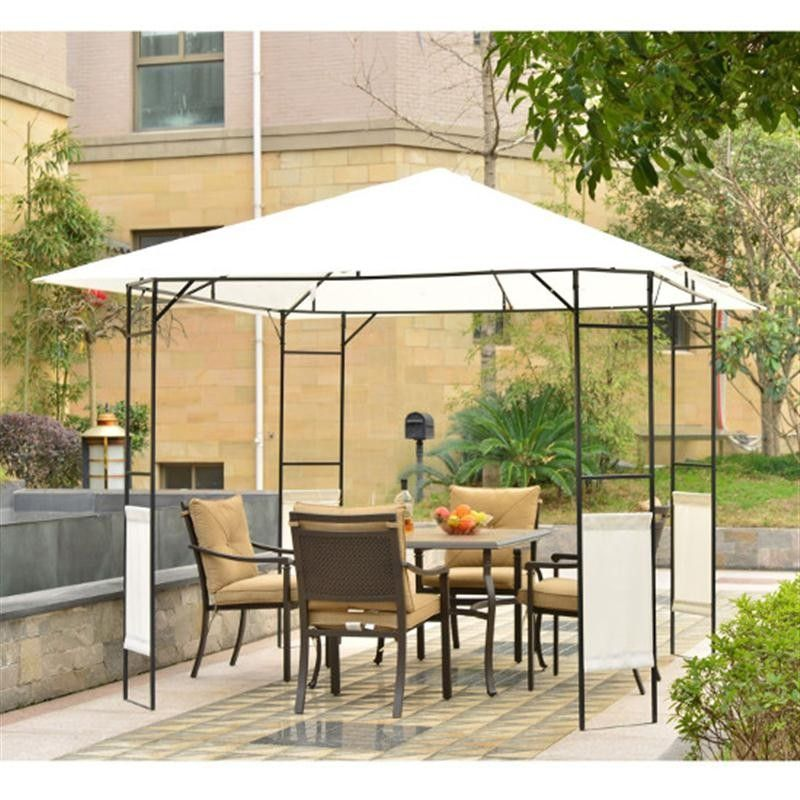 Outsunny Metal square Gazebo-Black/Cream White | Pinterest