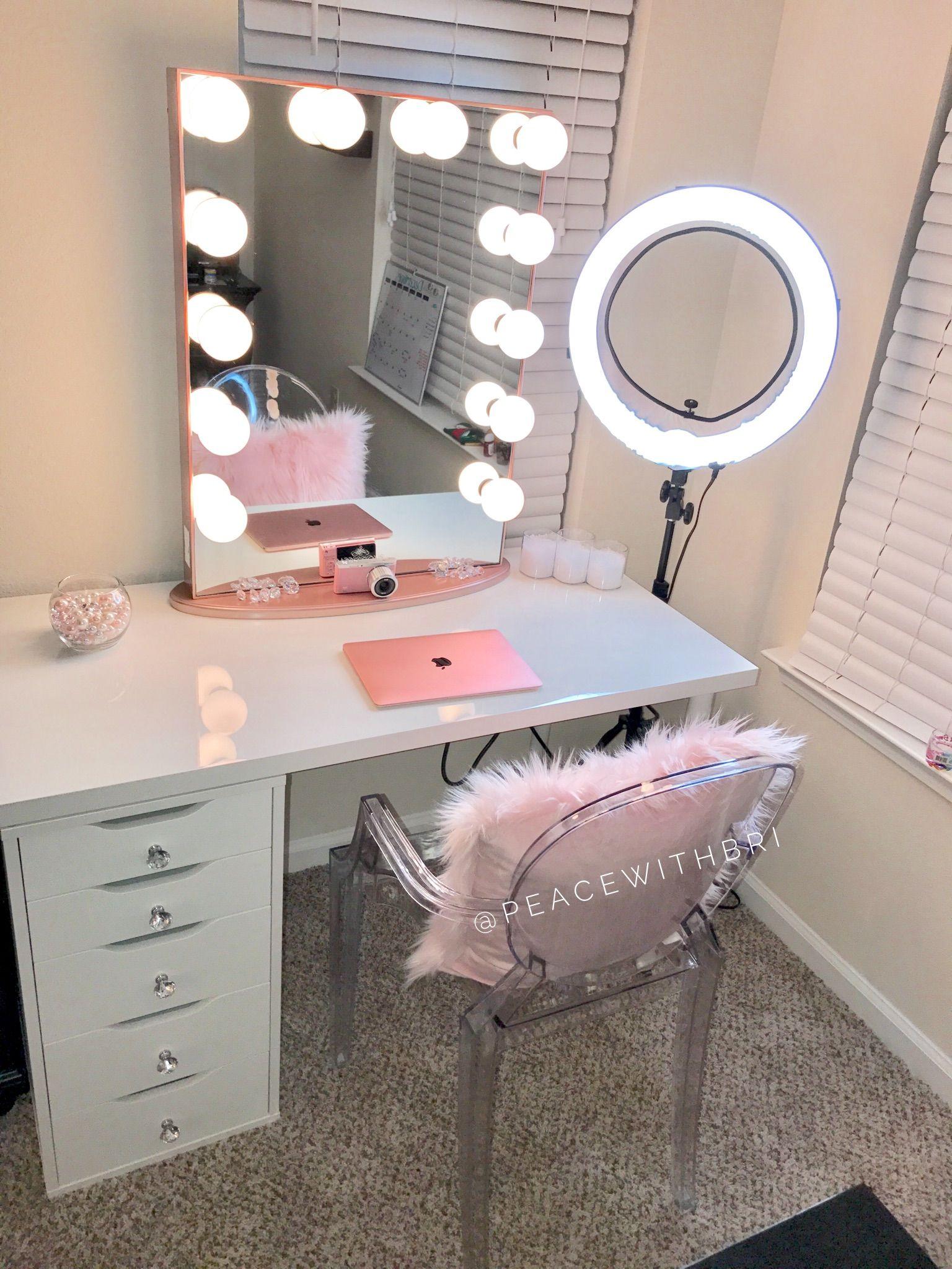 My Impression's Vanity set up. Apartment decorating