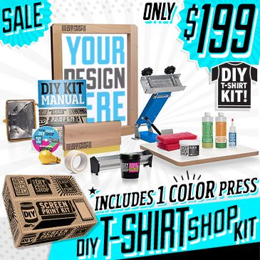 Diy screen printing kit and do it yourself kits misc pinterest diy screen printing kit and do it yourself kits solutioingenieria Images