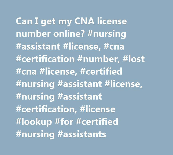 Cna Certification License Number Images Creative Certificate