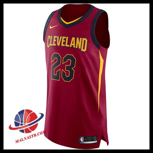 nouveau Maillot Basket Homme LeBron James Cleveland Cavaliers Nike  Authentic Maroon pas chere