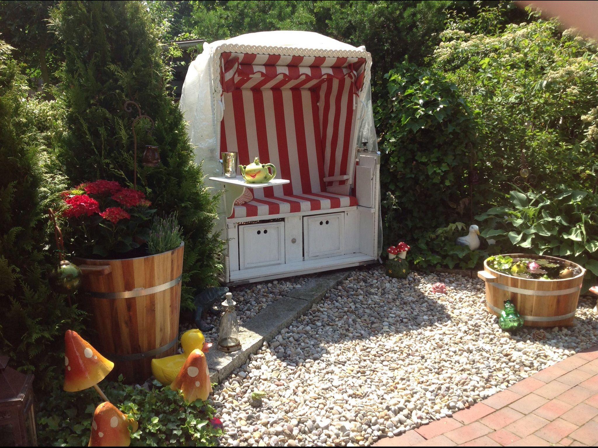 Strandkorb Garten Garten Gestalten Shabby Chic Garten