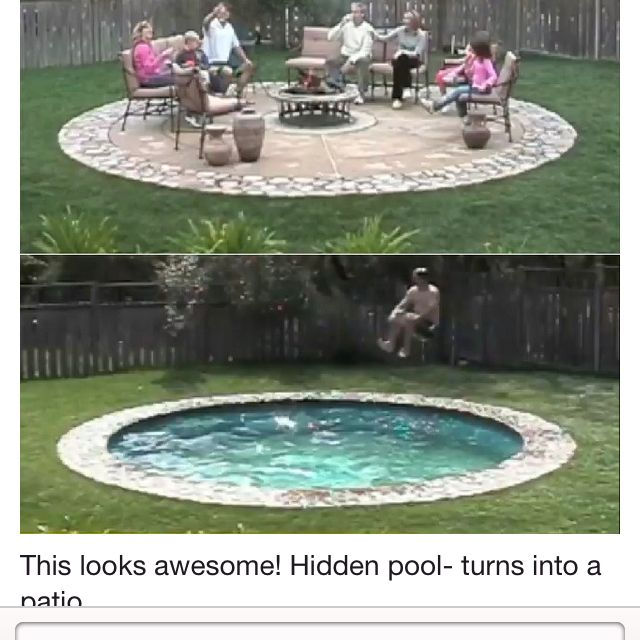 Hidden Water Pools Have A Giant Pneumatic Bottom That Is Slowly Raised To  Become A Patio