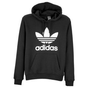 adidas Originals Trefoil Pull Over Hoodie - Mens - Casual - Clothing -  Black White 4bcf157883f