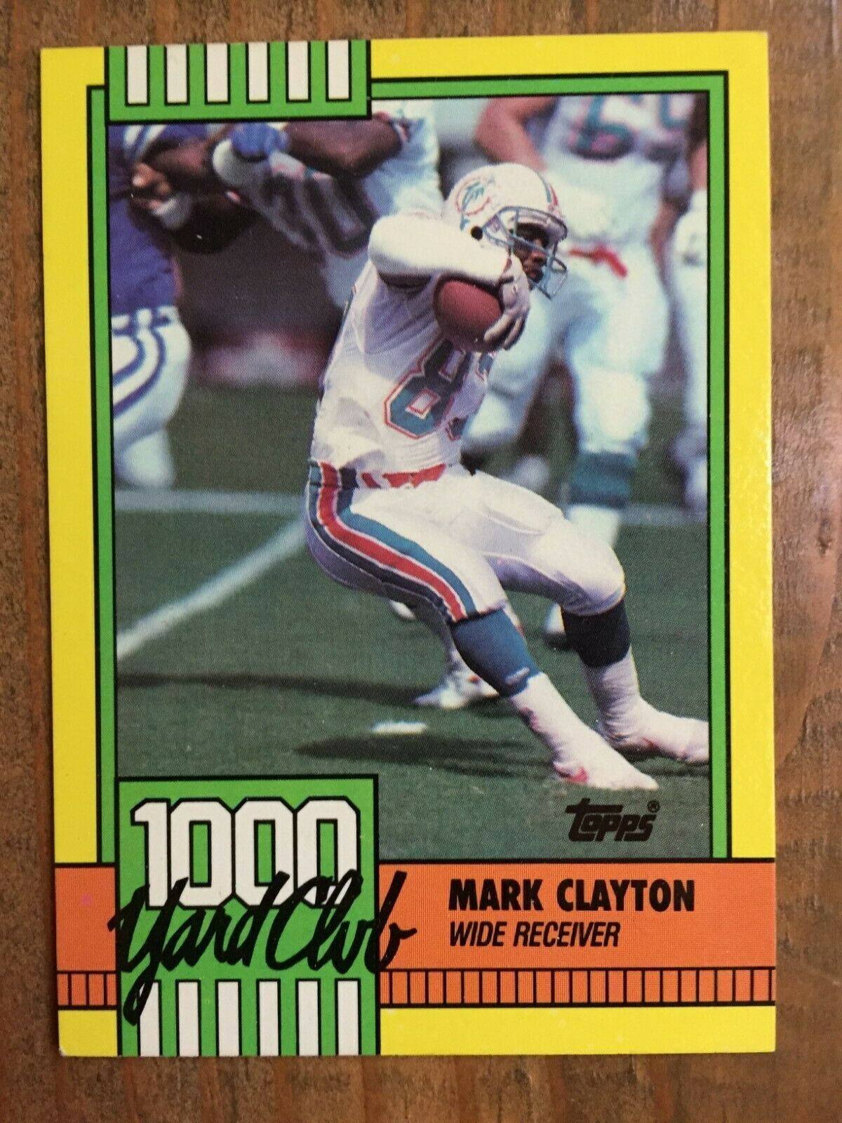 1990 Topps 30 Mark Clayton 1 000 Yard Club Miami Dolphins Nm Great Card In 2020 Football Cards Mark Clayton Miami Dolphins