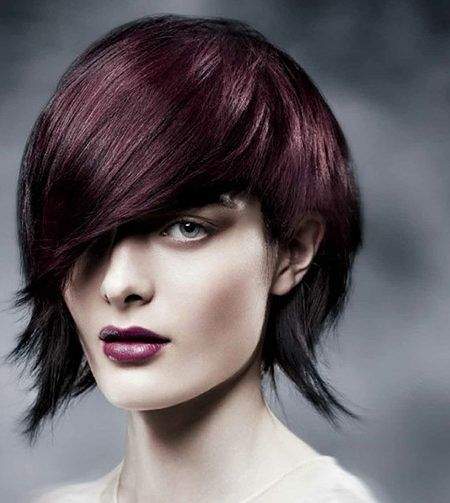 aubergine hair color trend