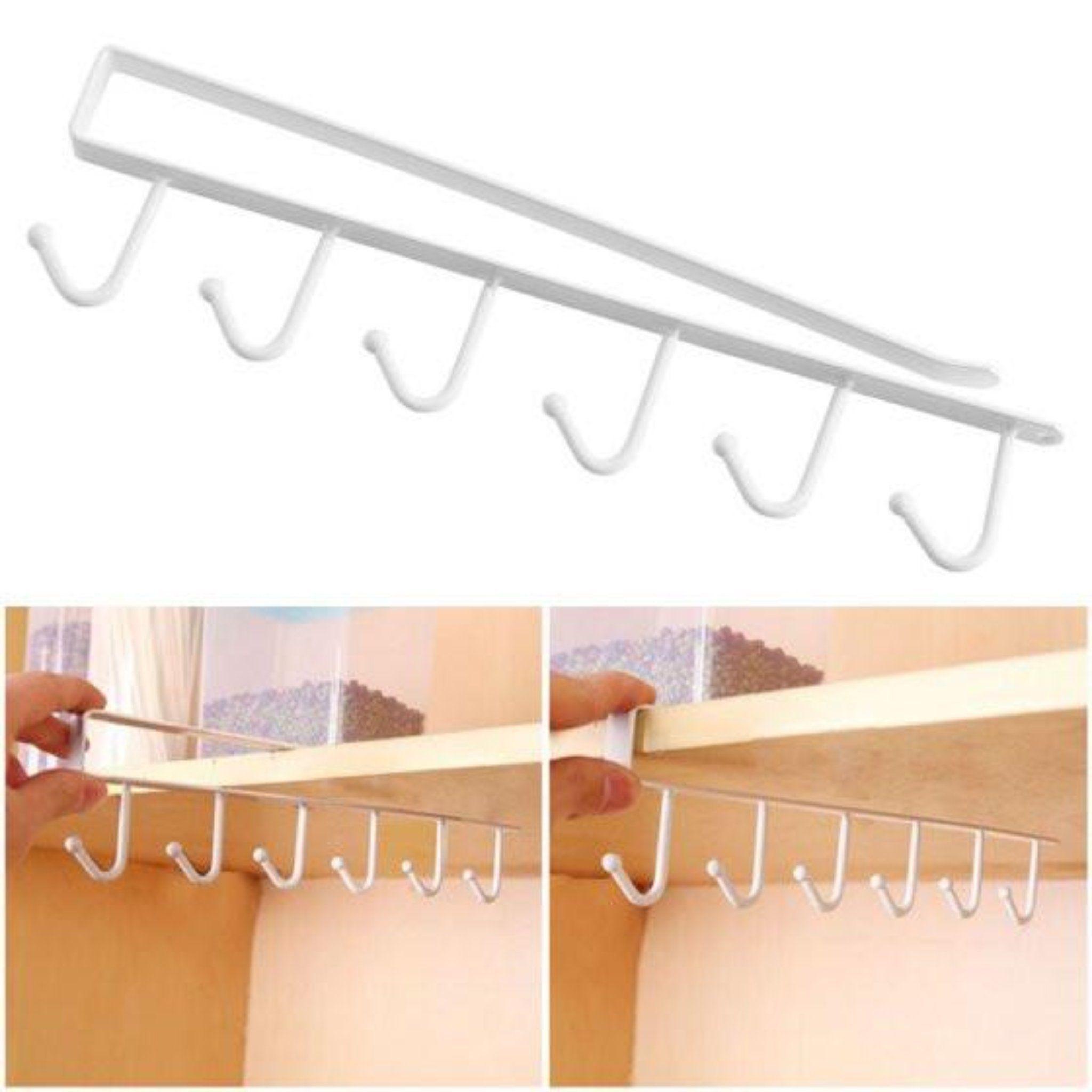 Multifunction Kitchen Storage Rack Cupboard Shelf Hanging Hook Wardrobe Organizer