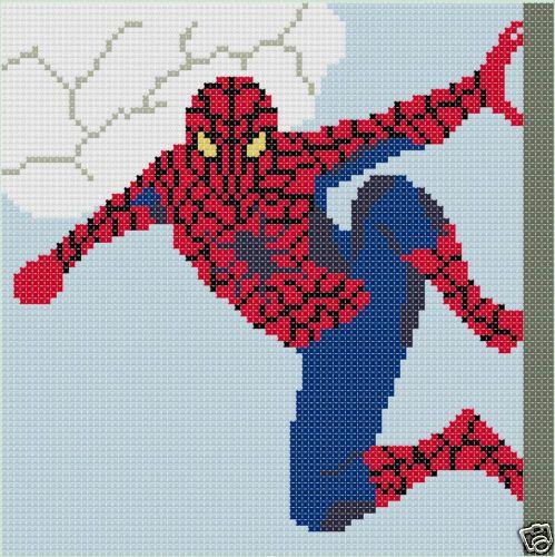 Spiderman 24x24 Latch Hook Kit Spiderman Needlecrafts