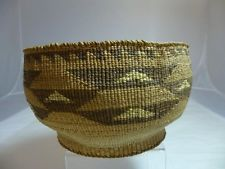 "Klamath Bowl with Yellow Quill ~ 4 by 7.5"" - E20th Century"