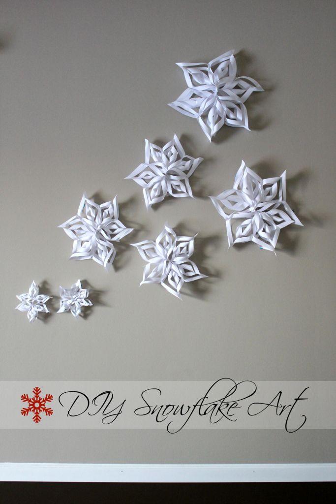 DIY Snowflake Wall Art Heidiandseek  Christmas  Pinterest