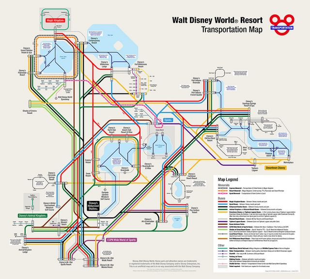 Walt Disney World Resort Map Disney World Map Disney Transportation Disney World Transportation