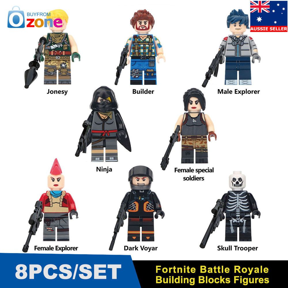 8pcs Fortnite Battle Royale Building Blocks Figures Game Collection