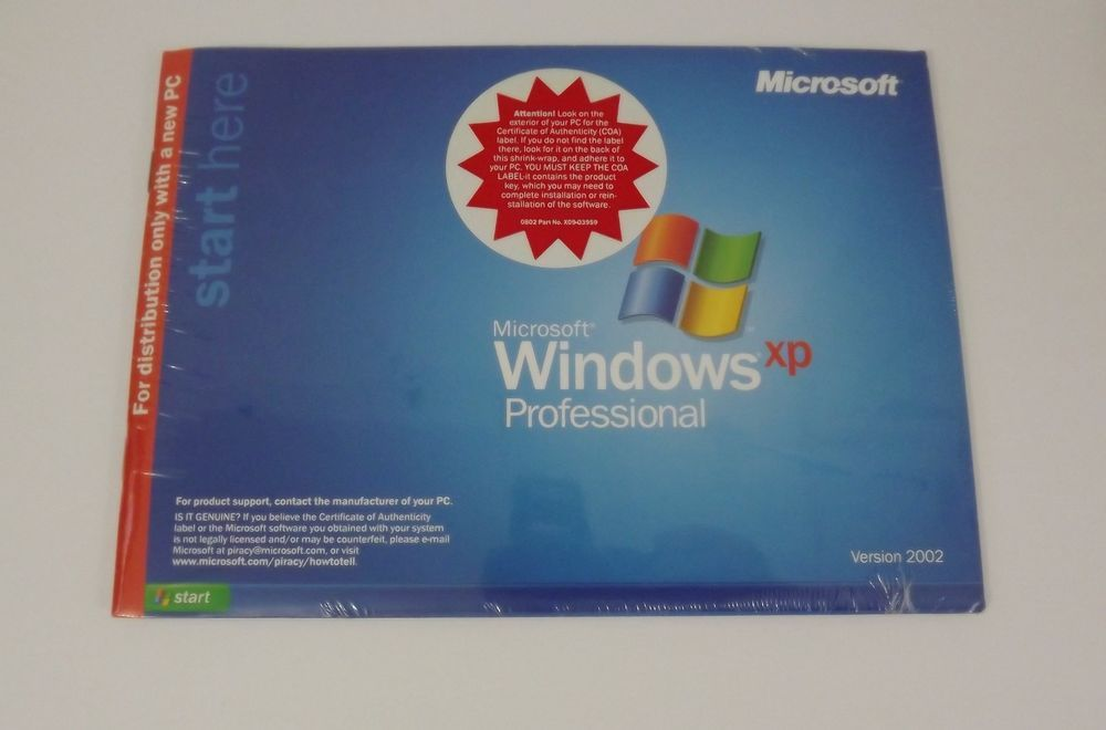 Microsoft MS Windows XP Professional SP Service Pack 1a with