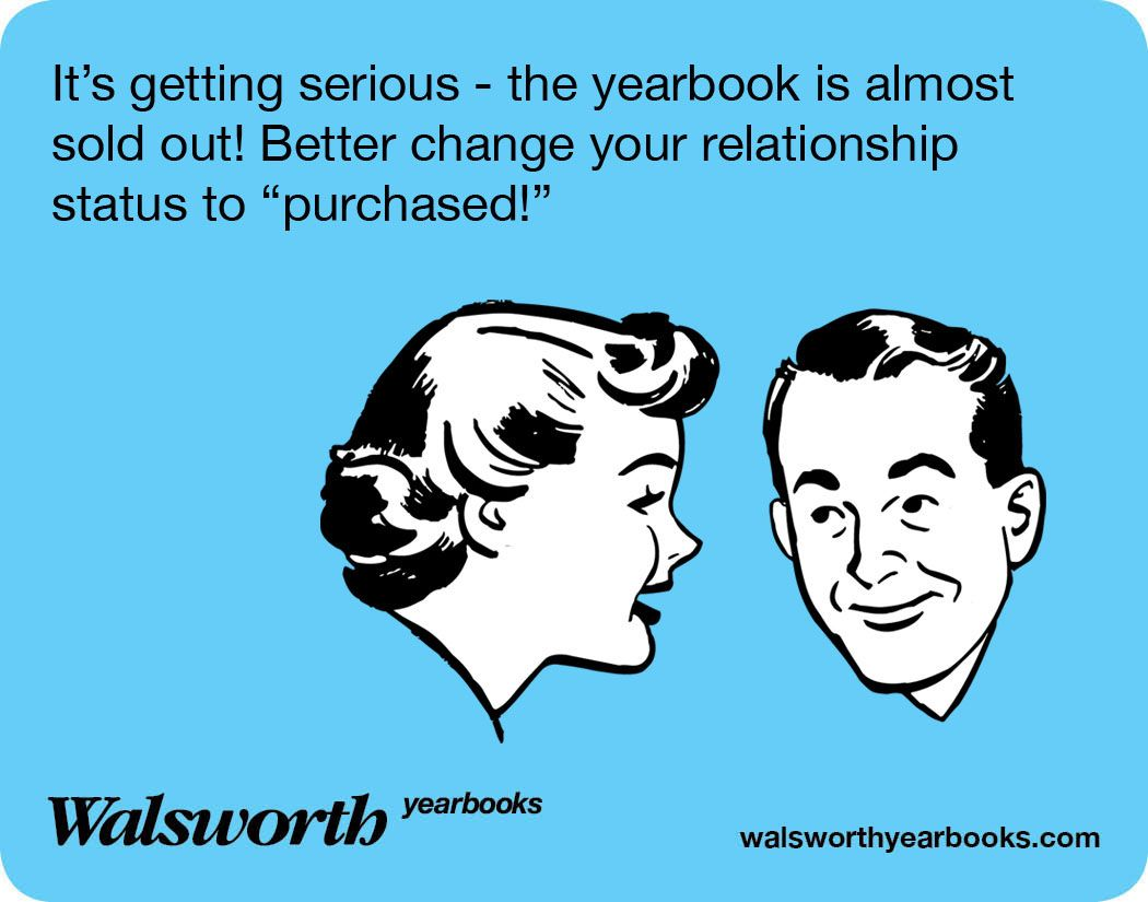 """Funny Yearbook Promotion Ideas: Don't Be """"singled Out"""" For Not Buying A #yearbook"""