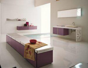 Badkamer u203a wit roze bank met minimalistische spa zwembad en koel