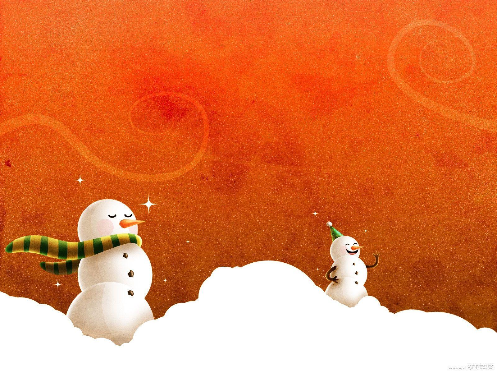 11 Winter Wonderland Snowman Desktop Wallpaper Basty Wallpaper