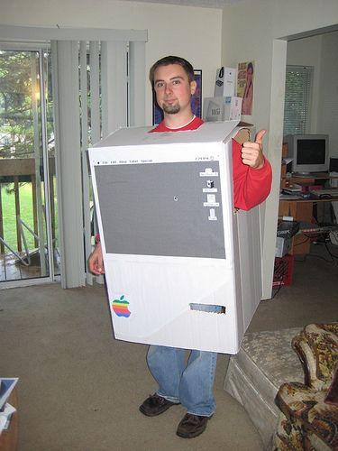 Halloween DIY: Make your own Apple Mac costume | Design Geekery ...