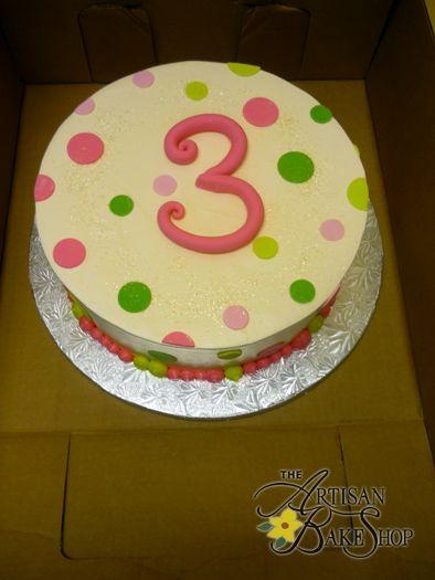 Polka Dot Round Buttercream Cake