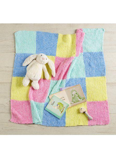 Nippers Checkerboard Baby Blanket Free Knitting Pattern Blanket
