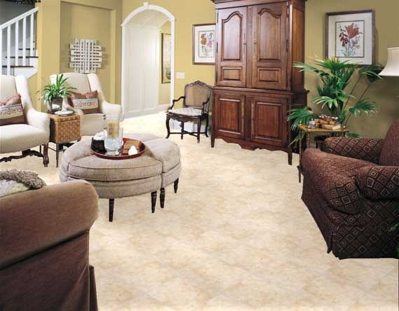Best Floor Tile Patterns Ideas: Beautiful Floor Tiles Design With Small  Round Table Also Potted