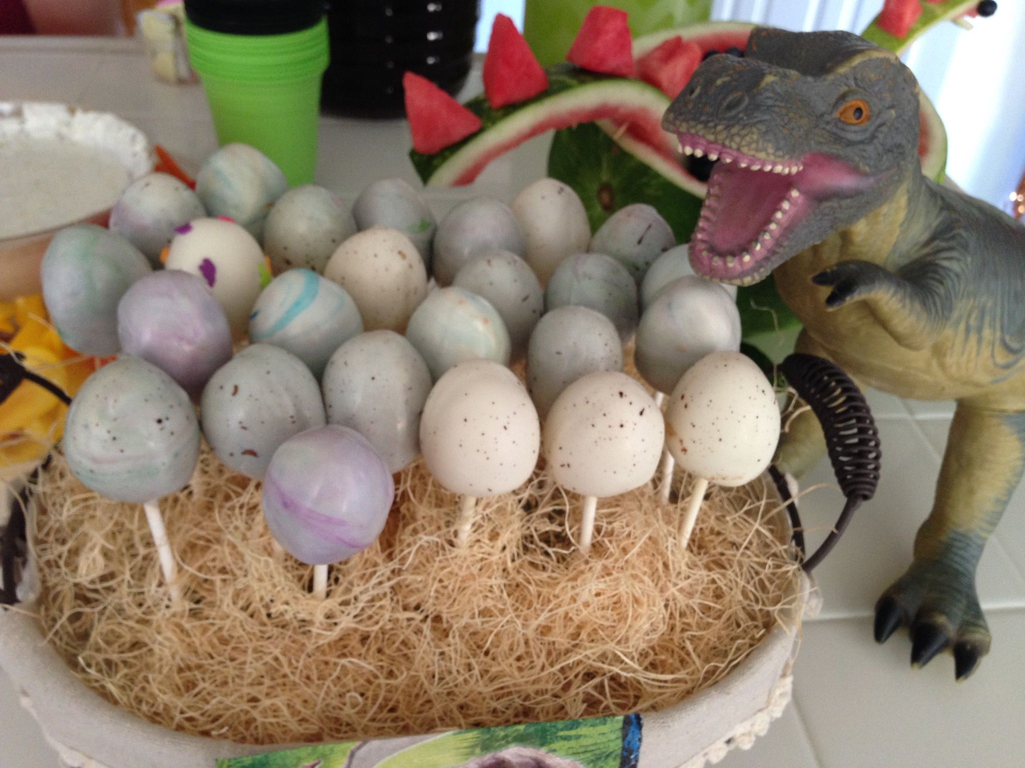 Dinosaur Egg Cake Pops Dinosaur Birthday Party