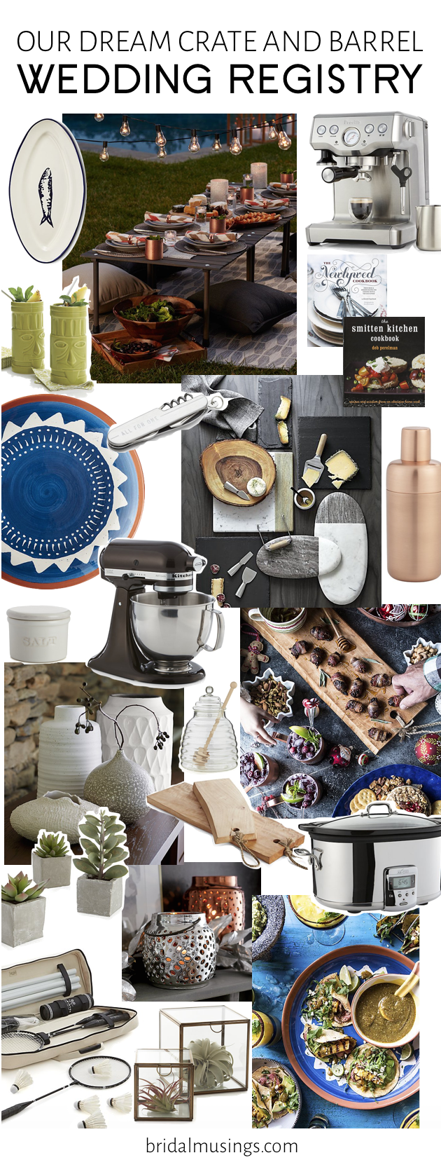 Our Dream Wedding Registry With Crate And Barrel Bridal Musings