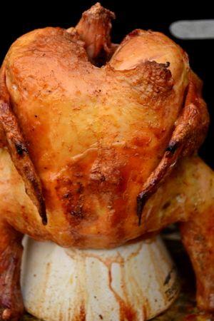 Dr Pepper Chicken On Traeger S Chicken Throne Traeger Pinterest