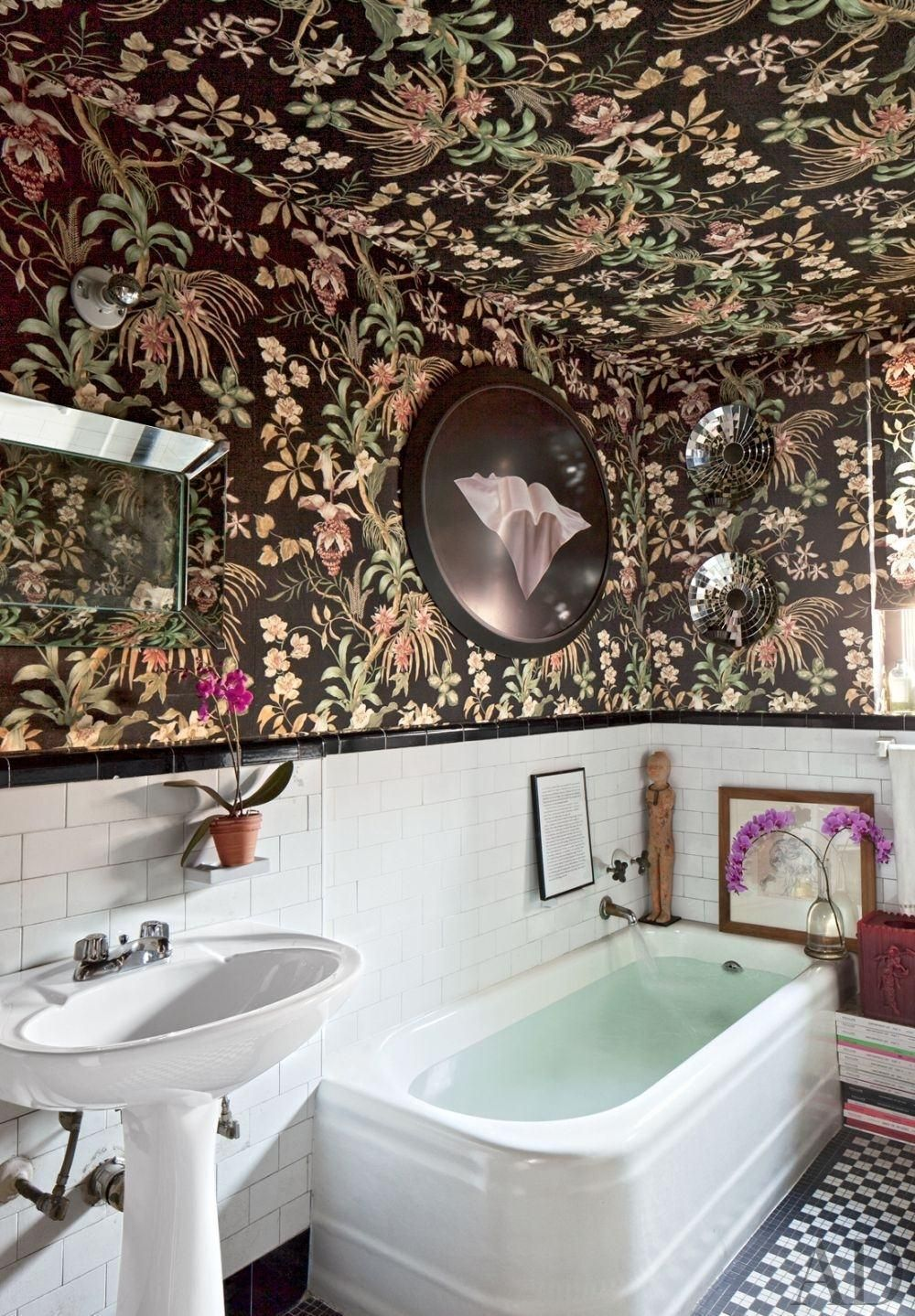 Decke Wallpaper 60 Fotos Und Referenzen Bedroom Ceiling Timorousbeasties Bathroom Bla Badezimmer Innenausstattung Badezimmereinrichtung Badezimmer Dekor