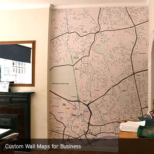 Custom Wall Maps for Businesses | Home, | Wall maps, Custom ...