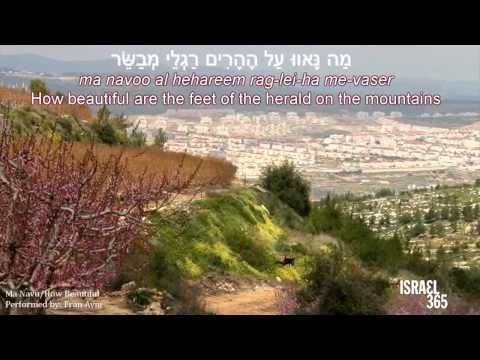 Today S All New Hebrew Music By Fran Avni How Beautiful Ma