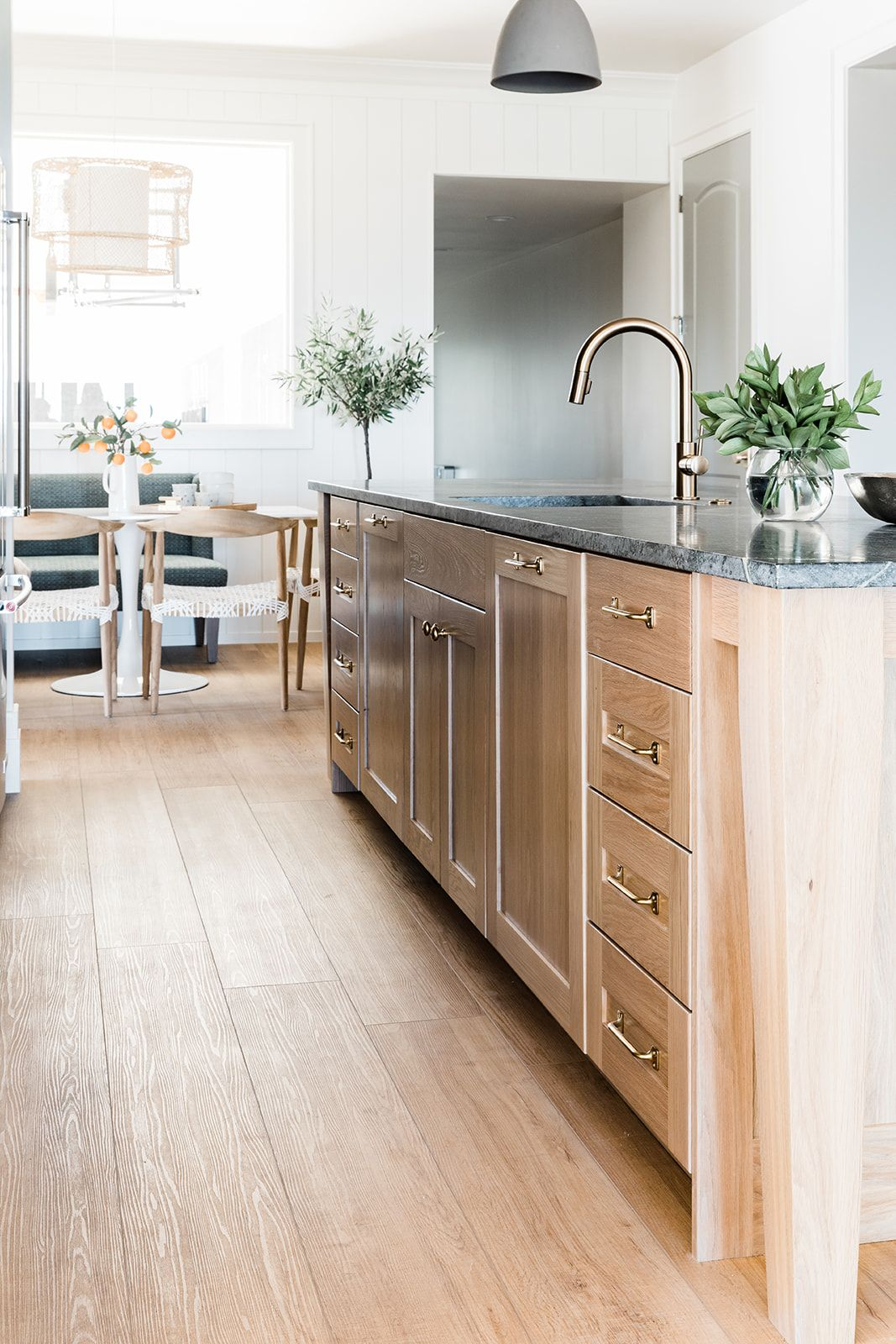 Sunrise Drive White Gold Design Soapstone Countertop White Oak Island Island With Legs Interior Design