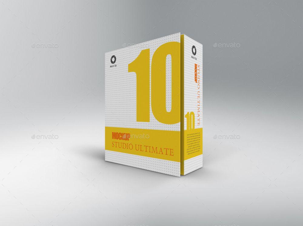 Download Software Book Style Box Mockup Fashion Box Box Mockup Box Design