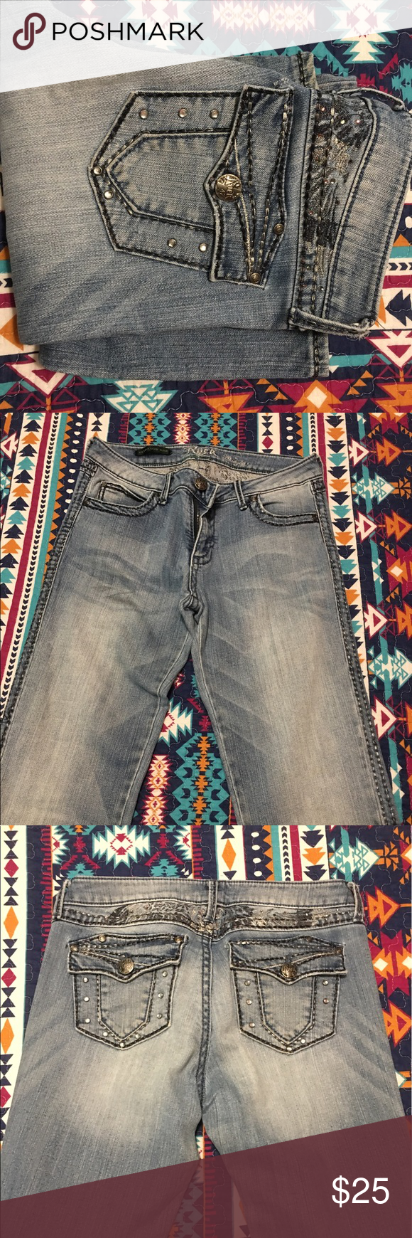 Rock 47 jeans Light wash. Very long Ariat Jeans Boot Cut