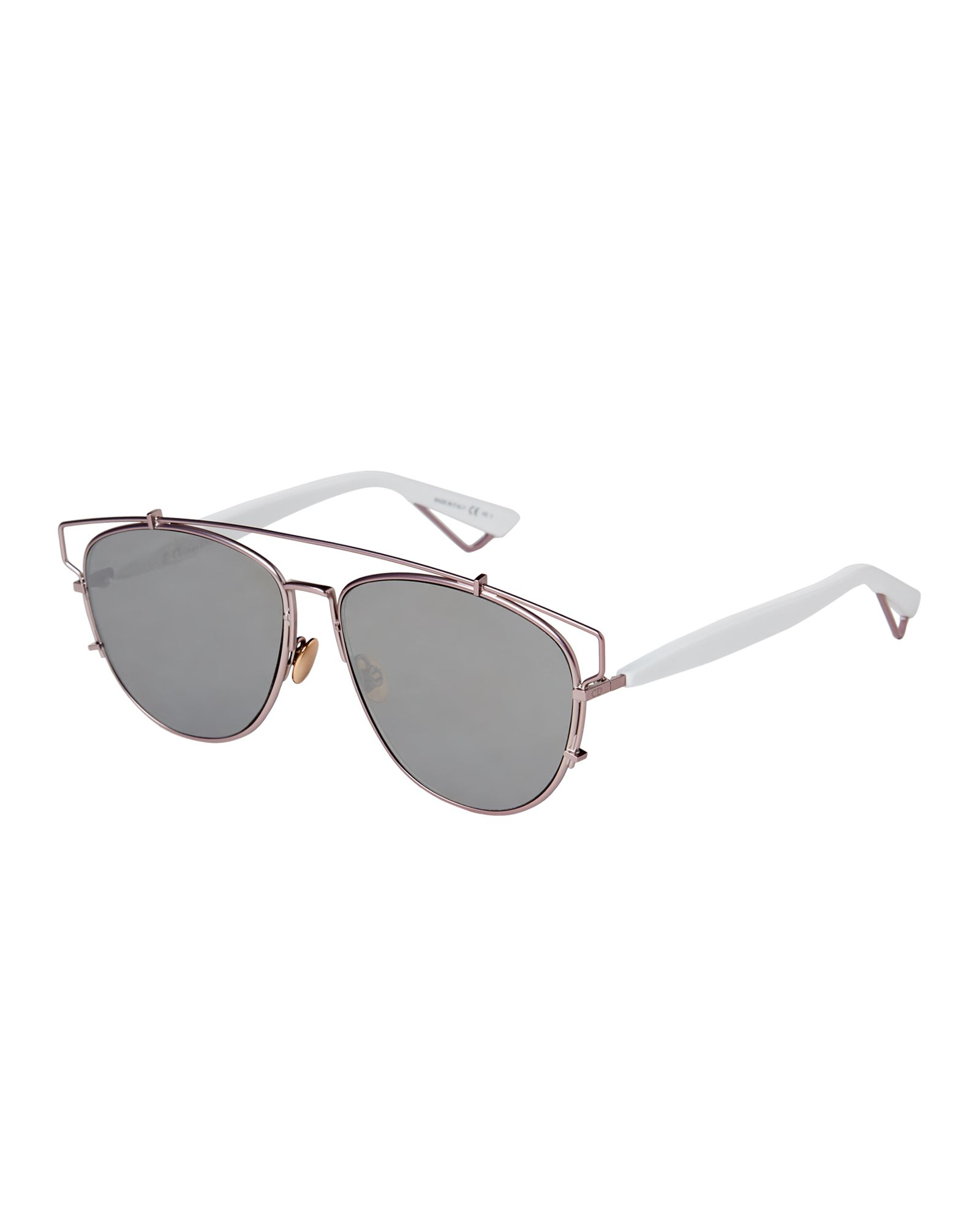 8d2c268785c4f Christian Dior Technologic TVGOT Rose Gold-Tone Aviator Sunglasses ...