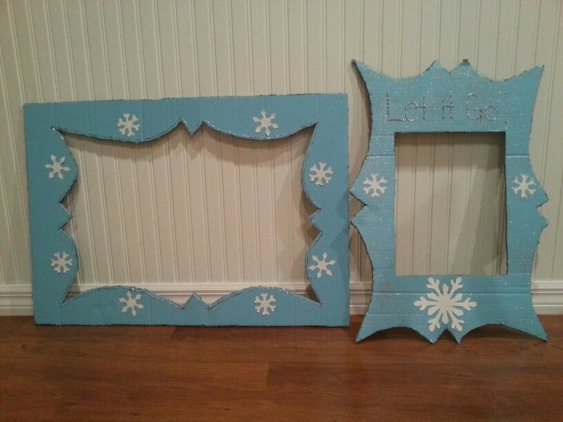 Frozen Frame Cutouts For Photo Booth Use One Big Piece Of Cardboard